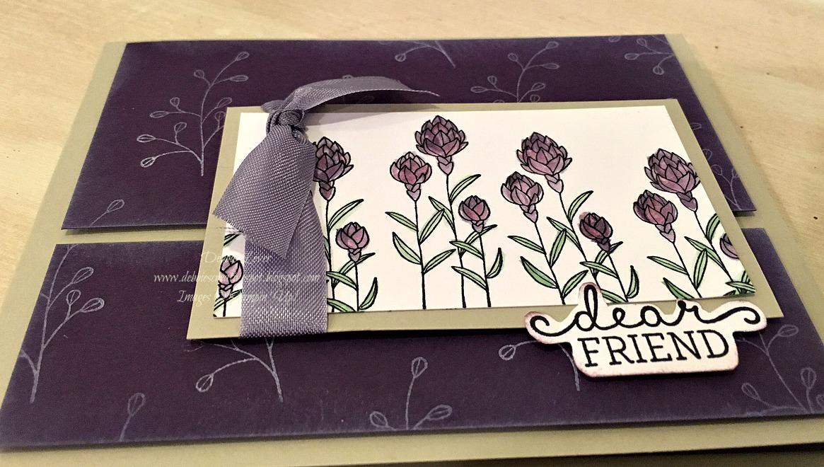 Debbies Creative Spot Flowering Fields Card
