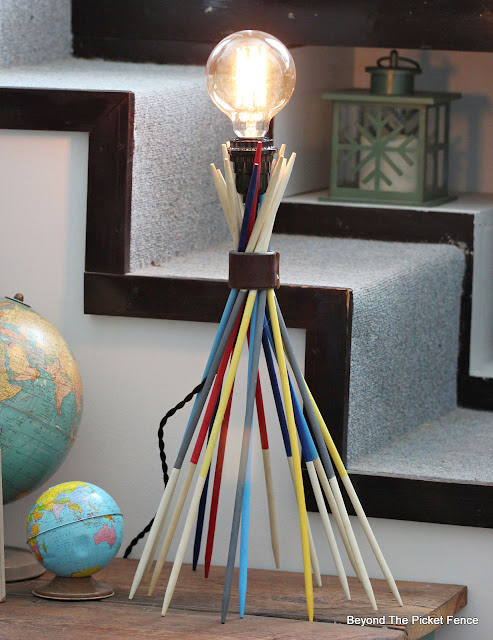 Make a Funky Lamp from Thrift Store Pick Up Sticks