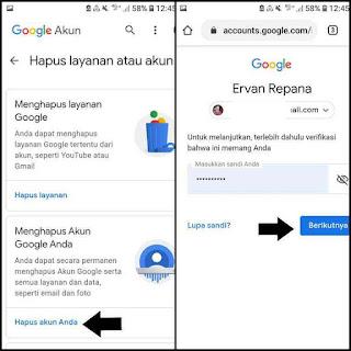 Cara remove google akun