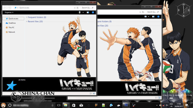 Windows 10 Ver. 1803 Theme Haikyuu!! by Enji Riz