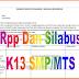 Silabus SMP Kurikulum 2013 Kelas 7, 8, 9 Revisi 2016