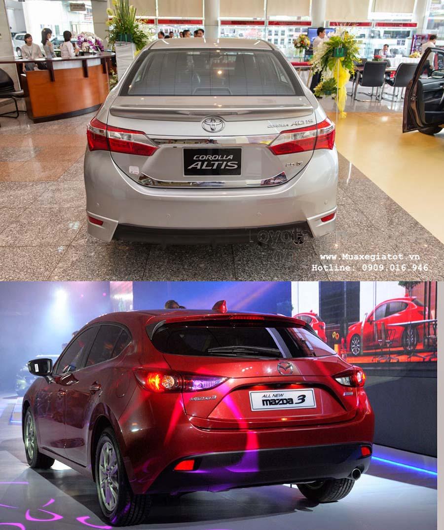 toyota corolla altis 2016 vs madza 3 2016 3 -  - Nên mua xe Mazda 3 hay Toyota Corolla Altis 2016 trong phân khúc sedan hạng C