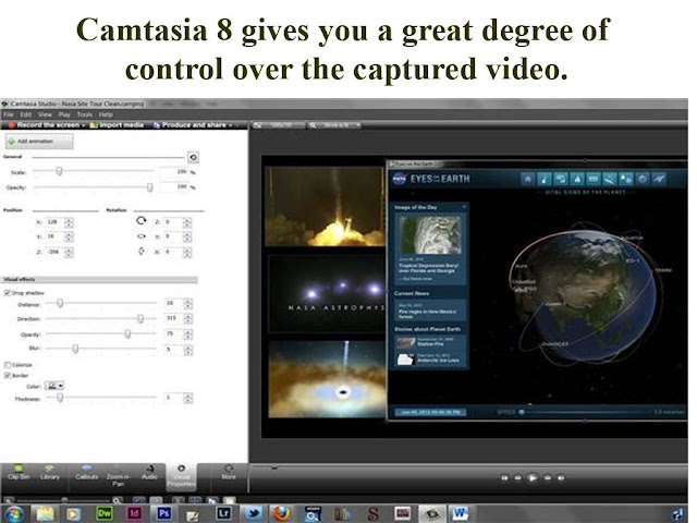 Camtasia Capturing video and control it
