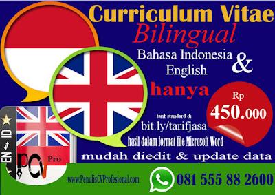 Jasa Pembuatan Curriculum Vitae Profesional