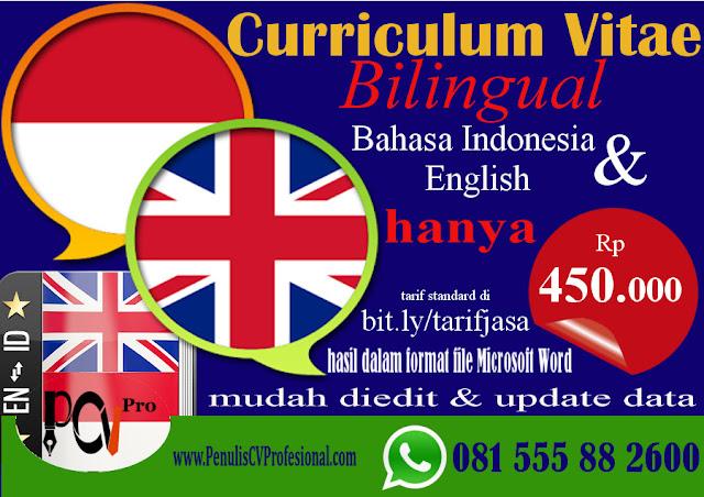 Jasa Pembuatan CV Bahasa Inggris dan Bahasa Indonesia