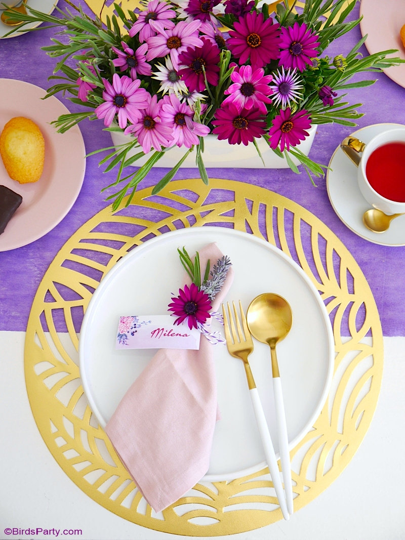 A Lavender Tea Party and Tablescape for Mother's Day