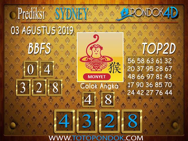 Prediksi Togel SYDNEY PONDOK4D 03 AGUSTUS 2019