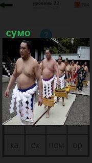 1100 слов на ковер выходят мужчины для борьбы сумо на 22 уровне