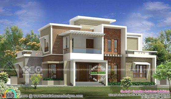 2456 square feet modern contemporary house