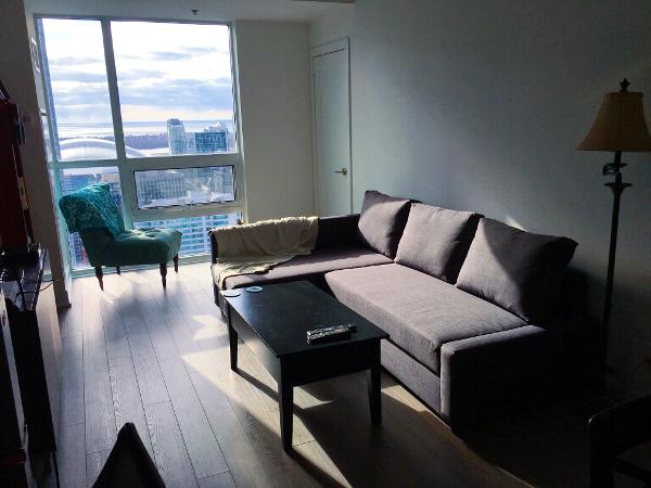 Living Room Unpacked - Toronto Apartment