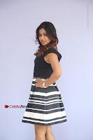 Actress Mi Rathod Pos Black Short Dress at Howrah Bridge Movie Press Meet  0092.JPG