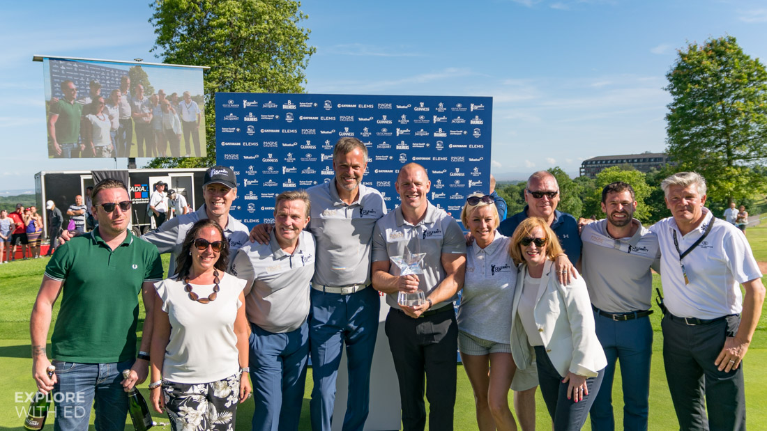 Team England at The Celebrity Cup 2017 with Sponsors