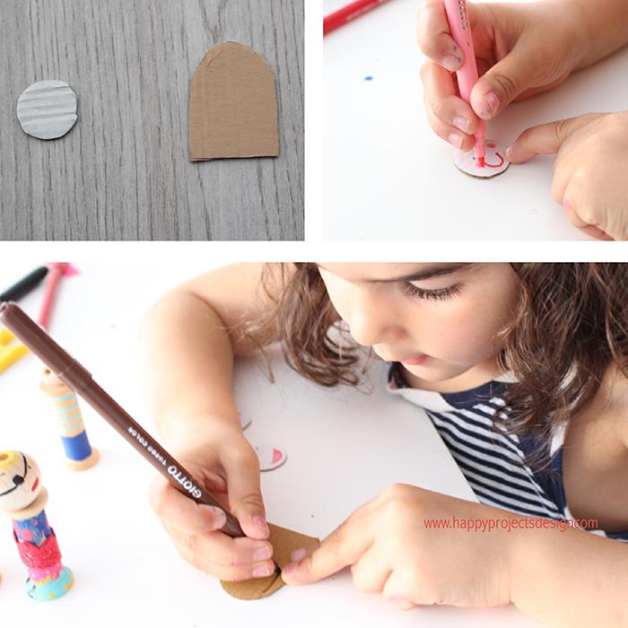DIY muñecas con pinzas