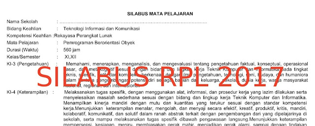 Download Silabus RPL Tahun 2017