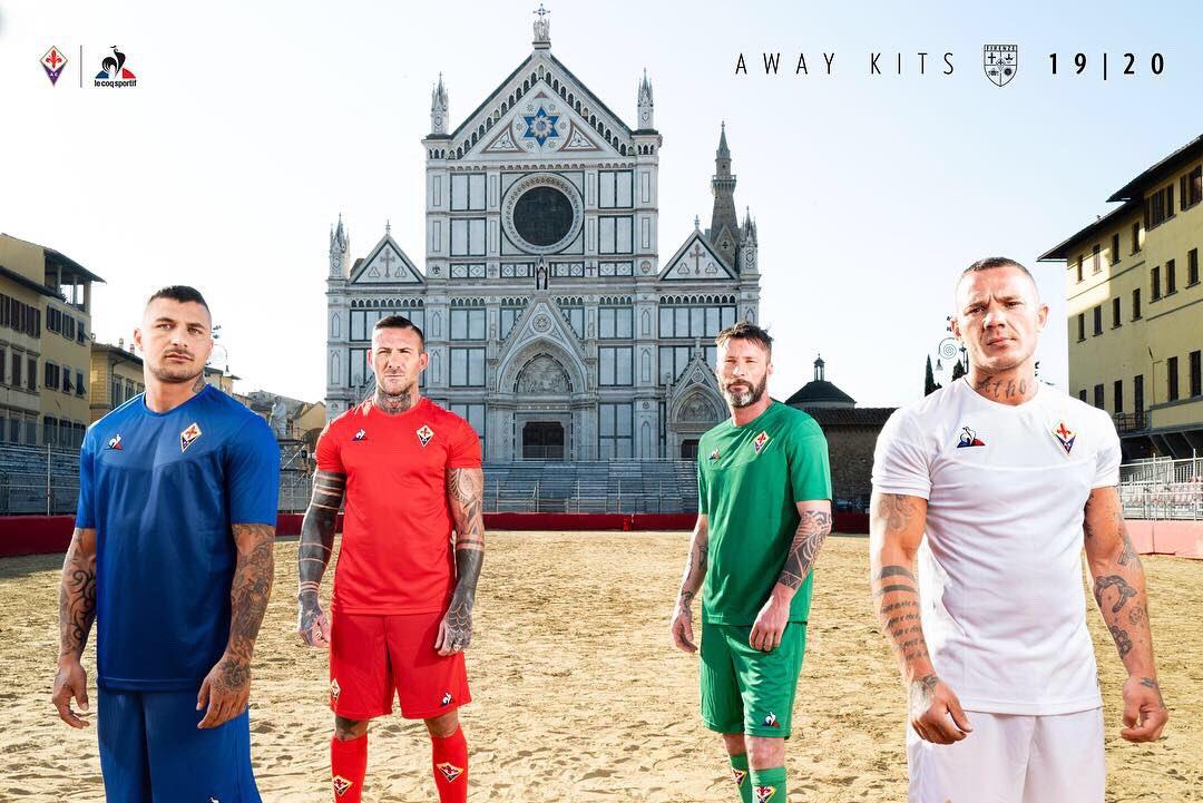 Trikot Le Coq Sportif AC Florenz 2019-2020 Home Serie A Prince 10 I Boateng