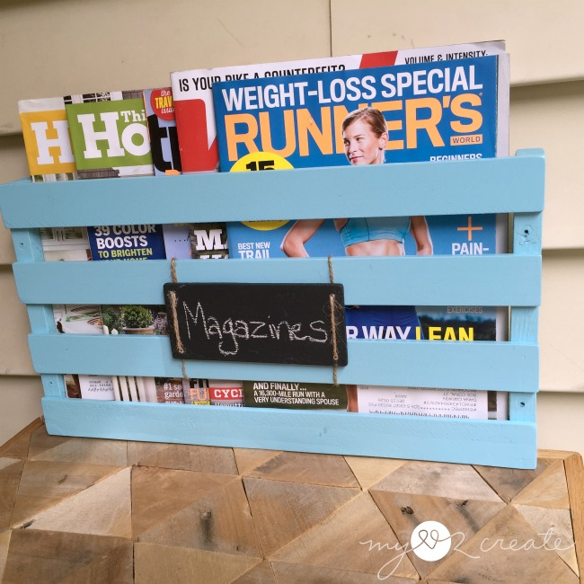 How to Build a Magazine Rack, MyLove2Create