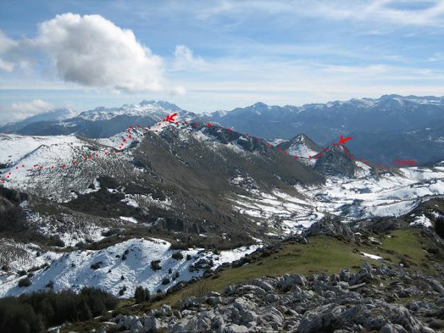 Rutas Montaña Asturias: Desde el Caldoveiru, ruta realizada