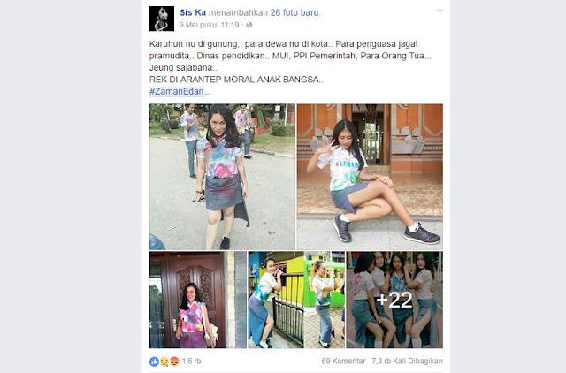 Setelah sempat dihebohkan dengan ulah sejumlah siswi SMK asal Banjarmasin di kawasan kantor Gubernur, netizen banua kembali dikejutkan puluhan foto kelulusan siswa SLTA yang siapapun melihatnya geleng-geleng kepala dibuatnya.  Foto-foto pamer bokong mantan siswi ini pun menjadi viral di sosial media setelah akun bernama Sis Ka menguploadnya ke jejaring facebook dengan hastag #Zamanedan. Sedikitnya ada 26 foto yang terpampang jelas bagaimana kemolekan para mantan siswi ini berpose merayakan euforia kelulusan.