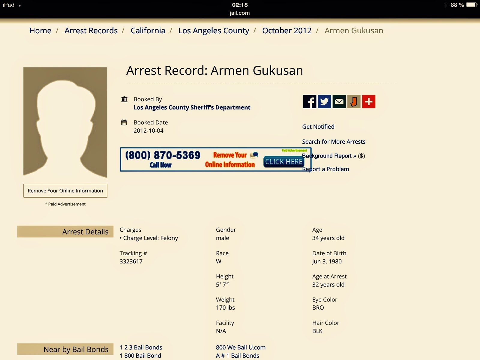 Arrest-Record-Armen-Gukusan-Armin-Gukusan-California-County