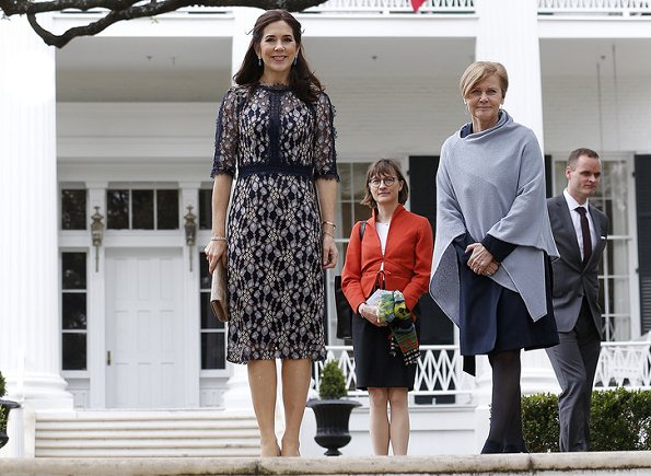 Danish Crown Princess Mary wore Clarissa dress by Moss & Spy which is a Woollahra based Australian clothing brand