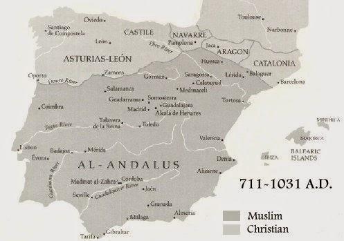 Map Of Spain 711.Infinite Museum The Jews In Muslim Spain C 800 1200 Prosperity And