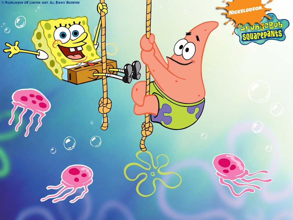 Spongebob Squarepants and Patrick wallpaper spongebob squarepants in jellyfish land