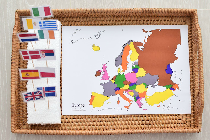 Europe Continent Study: Pinning Flags