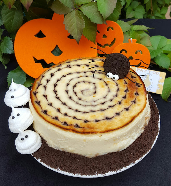 blueberry-cheesecake, arandanos, halloween