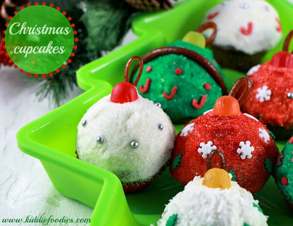 Christmas Cupcake Ornaments, Kiddie Foodies