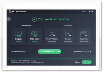 تحميل AVG Free Antivirus 2019 قاتل الفيروسات