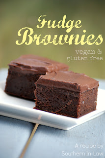 Vegan Fudge Brownies with Chocolate Frosting Recipe Gluten Free