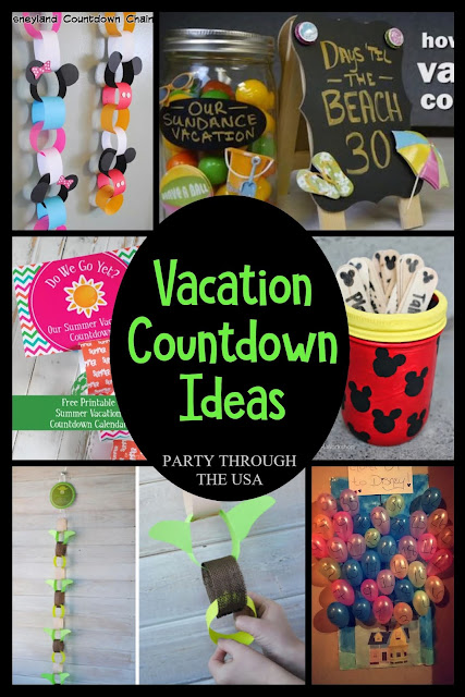 Vacation Countdown Ideas // Party Through the USA // Road Trips  // Disneyland // Disney World // Disney Parks // Family Vacations // Disney Princesses // Pixar