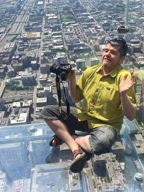 Balcones de cristal en la Torre Sears (Willis) de Chicago