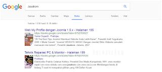 Mencari buku di google
