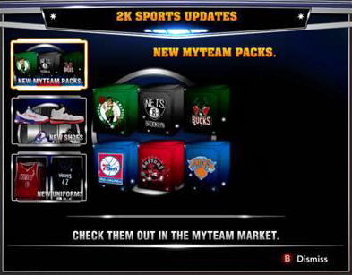 NBA 2K14 MyTEAM Series One Packs