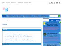 Cara Membuat Sitemap/Daftar isi Otomatis di Blogger
