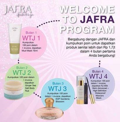 Bonus Welcome to JAFRA Selama 4 Bulan Pertama