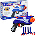 Soft Blaster Gun With 10 Darts-Fire 5 Mega Darts Without Reloading