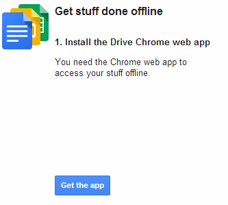 Drive Chrome web app