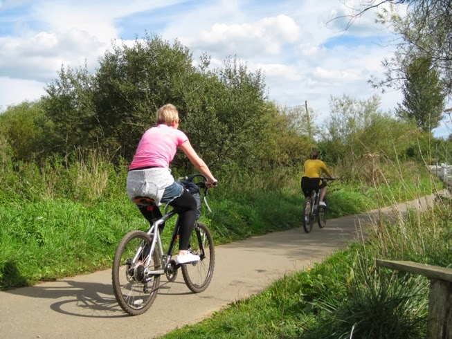 Sandown to Cowes Cycle Way on the Isle of Wight