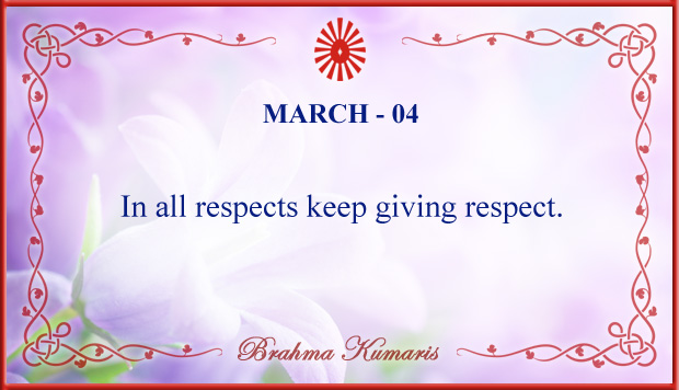 Thought For The Day March 4
