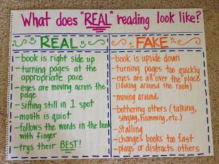 Real vs. Fake Reading Anchor Chart