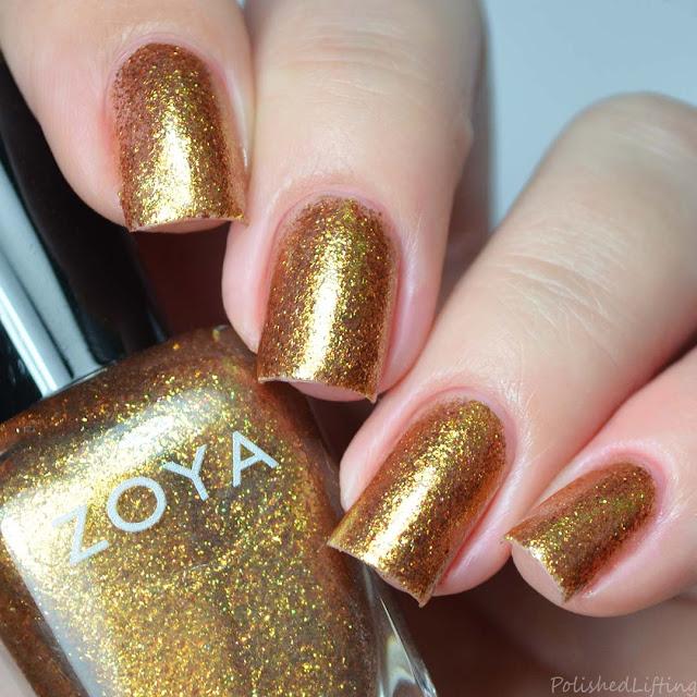 gold foil nail polish