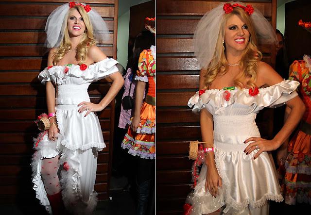 Fantasia Festa Junina, vestido noiva Val Marchiori