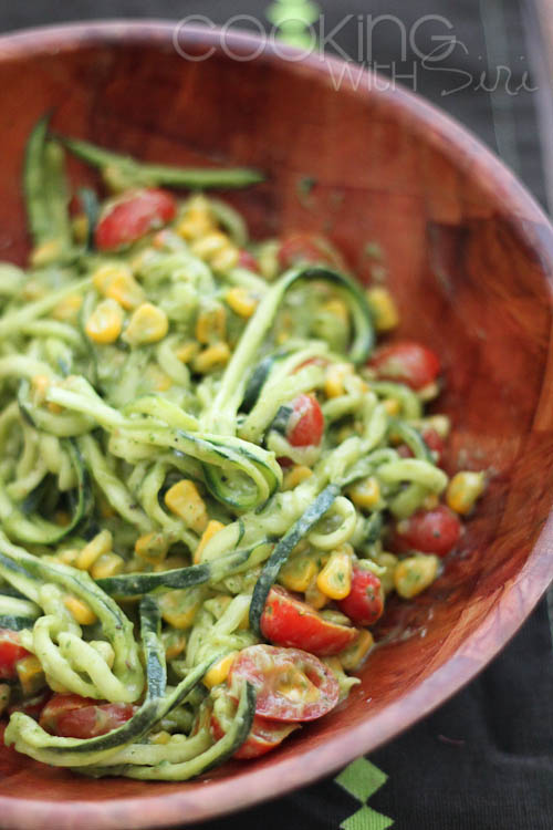 Zucchini Noodles With Creamy Avocado Lime Dressing Recipe