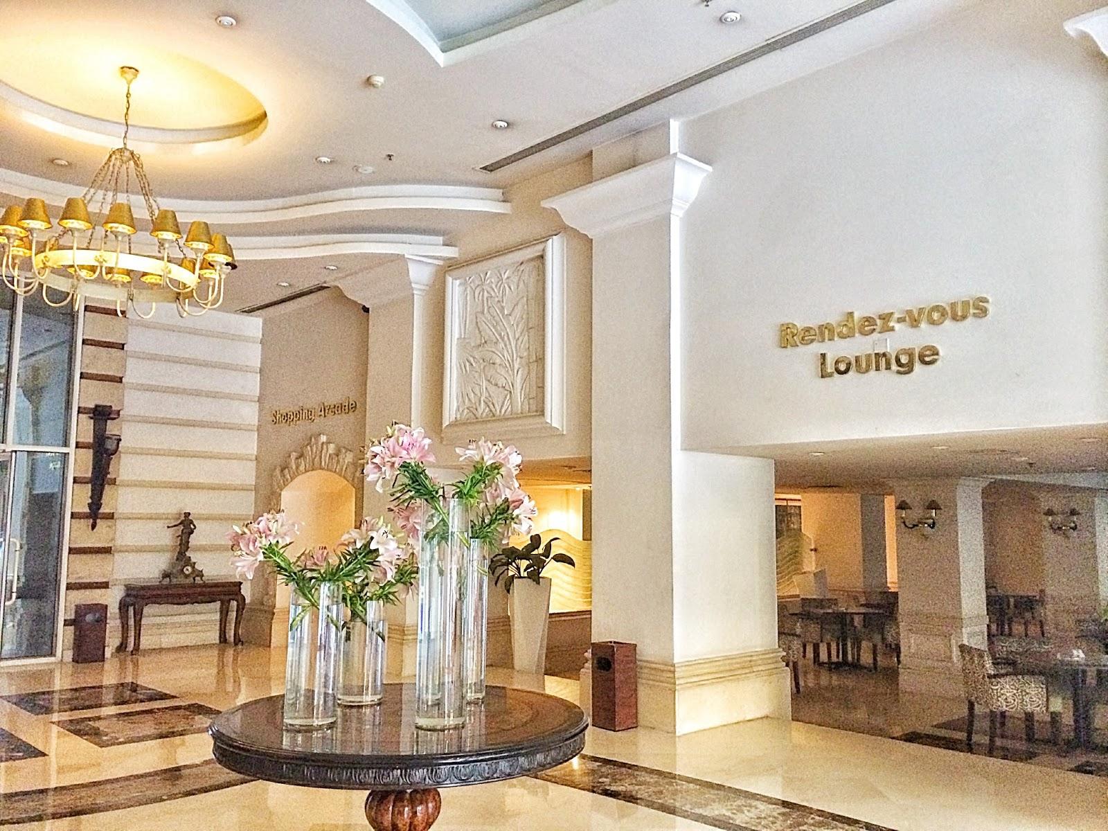 エジプトの豪華ホテルのロビー