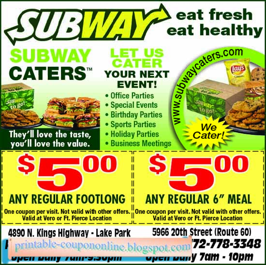 How to use a Subway coupon If you want to save money on your favorite healthy sandwiches, then check out the Subway chain restaurants. The world famous company offers monthly special deals such as buy one get one sandwich free for a limited time.