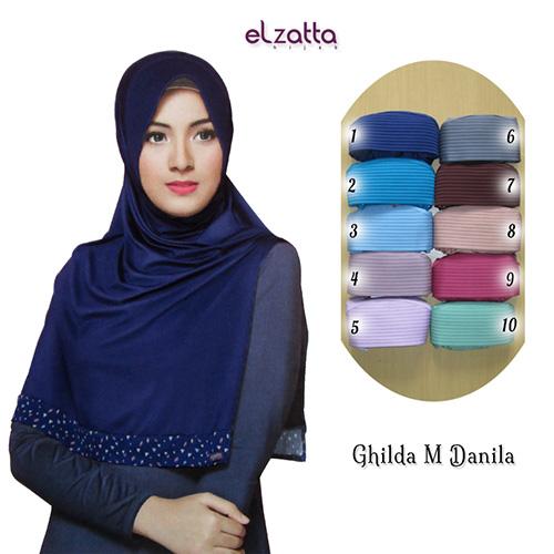 Nafiza Hijab Kerudung Instan Polos Elzatta Ghilda M Danila