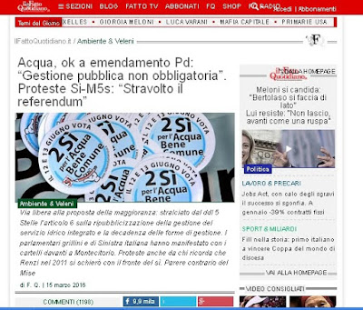 http://www.ilfattoquotidiano.it/2016/03/15/acqua-ok-a-emendamento-pd-gestione-pubblica-non-obbligatoria-proteste-si-m5s-stravolto-referendum/2548044/