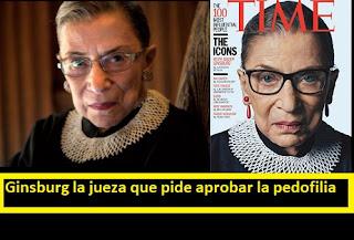 La jueza RBG Ruth Bader Ginsburg  que pide aprobar la pedofilia y que ha impulsado la ideología de género #Katecon2006